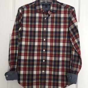 Men's banana republic custom 078 wash plaid shirt